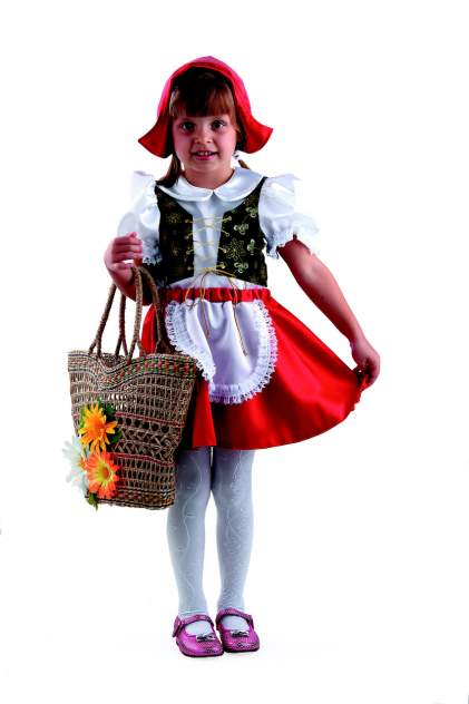 Карнавальный костюм Батик Красная Шапочка, цв. красный р.98
