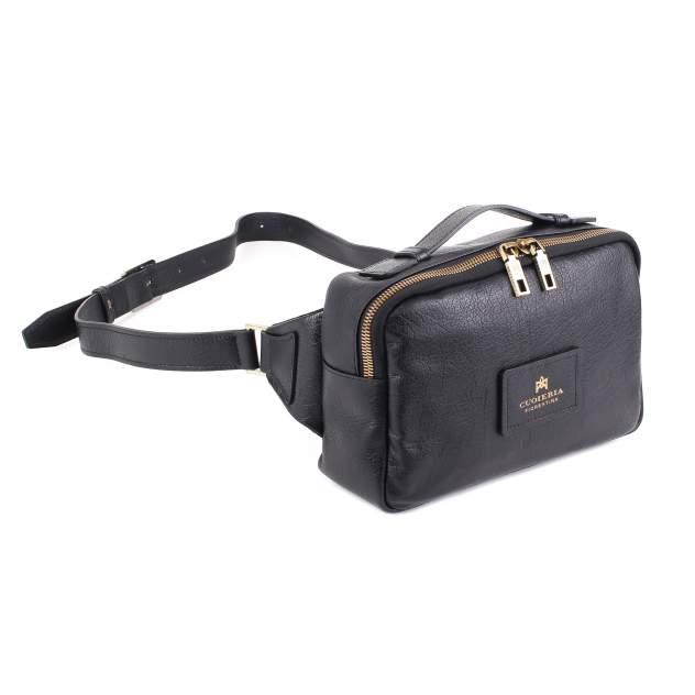 Поясная сумка мужская Cuoieria Fiorentina V1565 черная