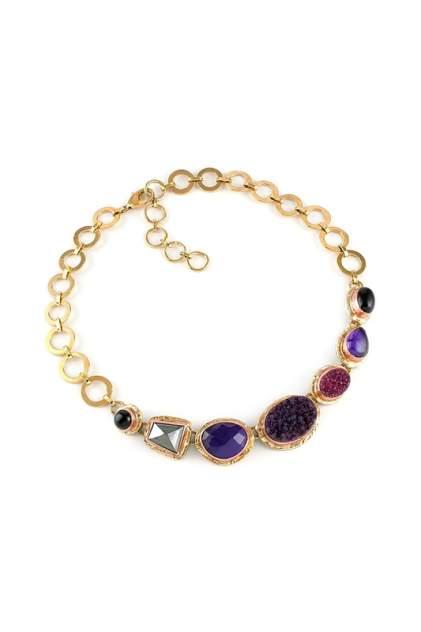 Колье 10118891 Selena фиолетовое/бордовое/золотистое