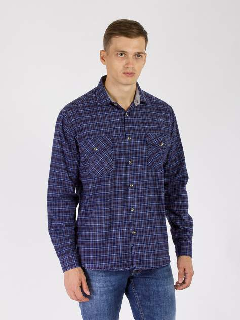Рубашка мужская DAIROS GD81100417 синяя 5XL