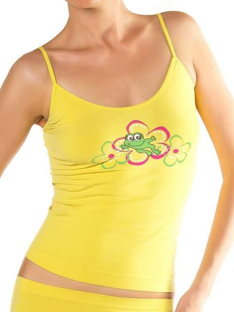 Майка женская Mademoiselle Lucky Frog Caraco, желтый