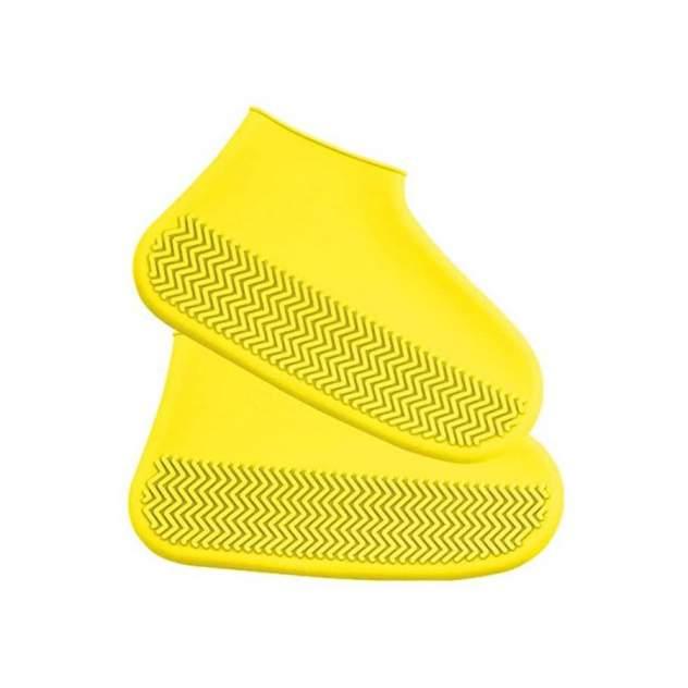 Многоразовые бахилы от дождя и грязи для защиты обуви желтые S