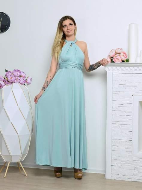 Вечернее платье женское Aleksandria Трансформер голубое 48-50