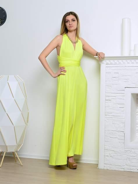 Вечернее платье женское Aleksandria Трансформер желтое 48-50