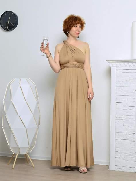 Вечернее платье женское Aleksandria Трансформер бежевое 48-50