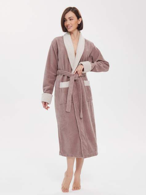 Домашний халат женский Peche Monnaie Soft Touch бежевый S