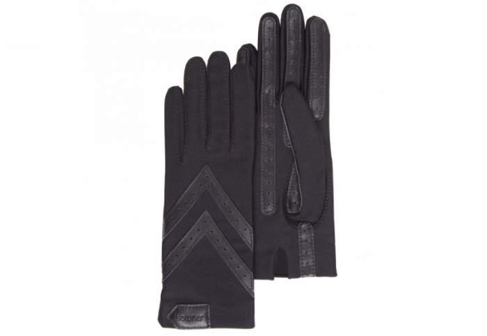 Перчатки женские ISOTONER Stretch черные ONE SIZE