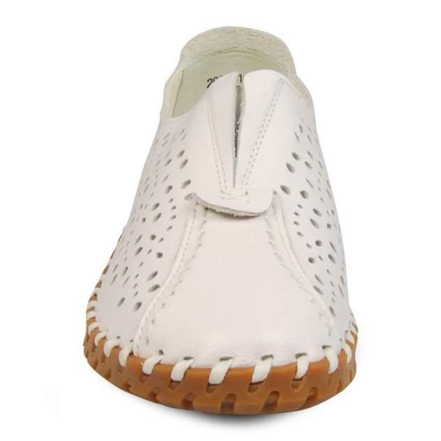 Мокасины женские Quattro Fiori 290231-918-64 белые 38 RU