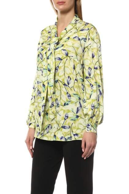 Блуза женская MadamLarimari ЛИСТЬЯ зеленая 48 RU