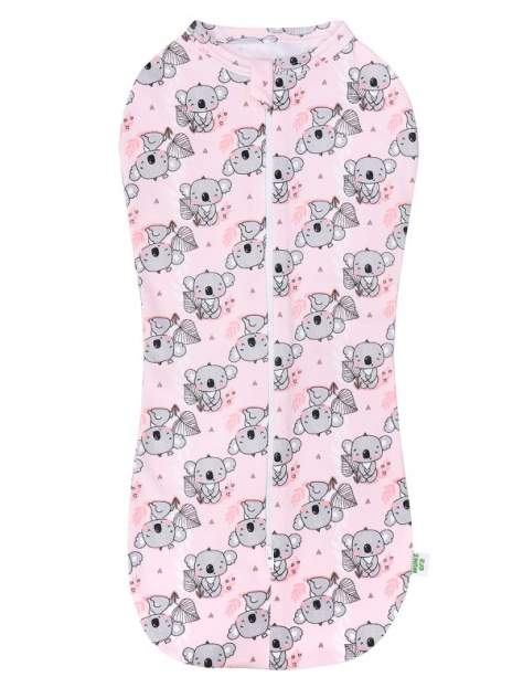Пеленка-кокон Mum's Era Koala розовый, р. 68