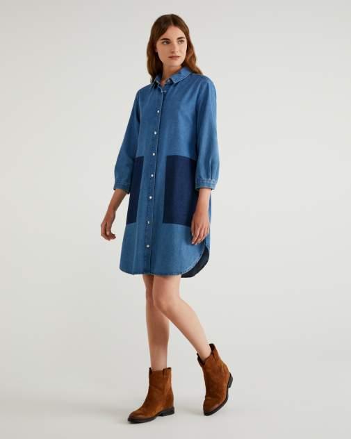 Женское платье United Colors of Benetton 20A_4XR65VBX4, голубой