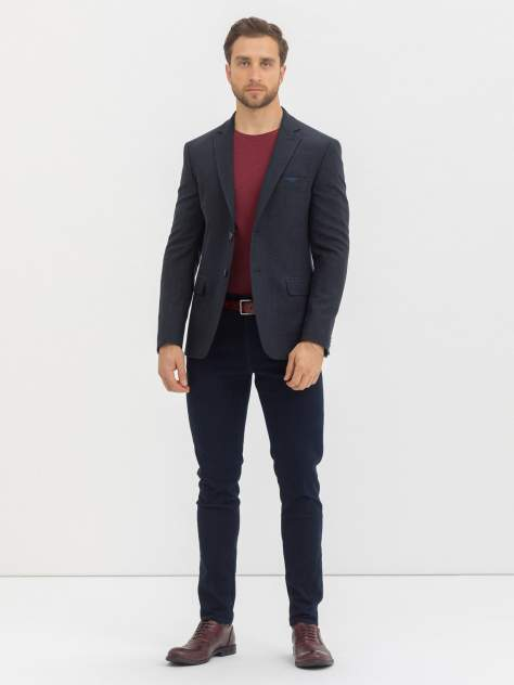 Пиджак мужской Marc De Cler Ps Relief-23751Grey-182, синий, серый