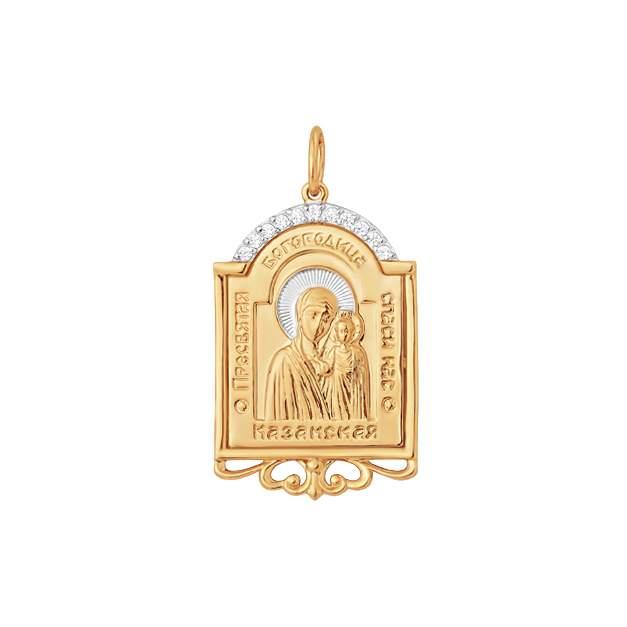 Амулет женский НАШЕ ЗОЛОТО ЮПП1326335 из золота, фианит