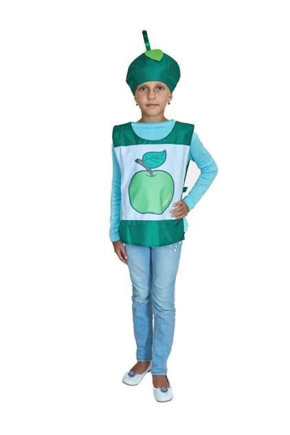 Карнавальный костюм Учитель Фрукт, цв. зеленый р.134