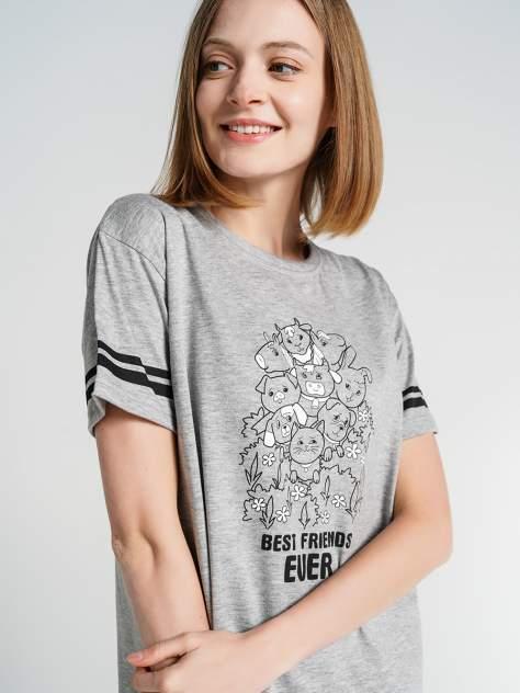 Ночная сорочка женская ТВОЕ 75673 серая S