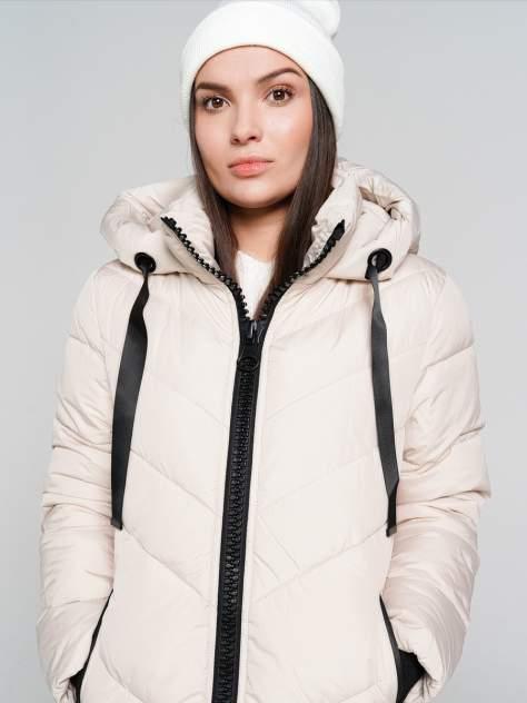 Пуховик-пальто женский ТВОЕ A6557 бежевый S