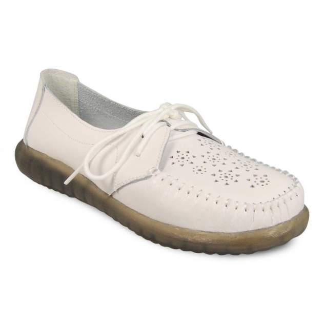 Мокасины женские SPUR 016-01-06 белые 39 RU