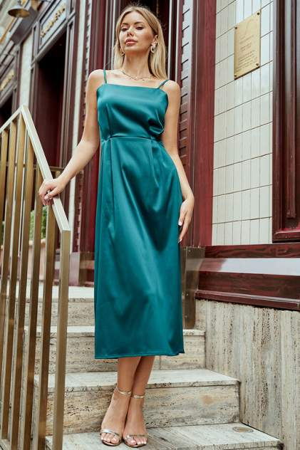 Платье женское Hochusebetakoe ST 117 зеленое 42