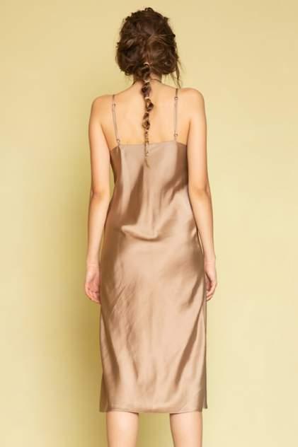 Платье женское ME TODAY METODAY0013 золотистое 48