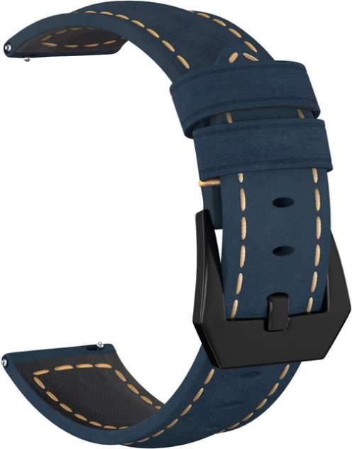 Ремешок для часов GSMIN Suede 2 Black 22 для GearS3/GalaxyWatch(46mm) Синий