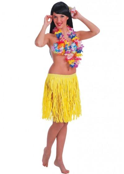 Юбка АРТЭ Гавайи короткая, флуоресцентная, желтый