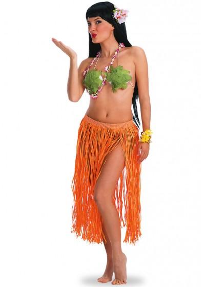 Юбка АРТЭ Гавайи длинная, флуоресцентная, оранжевый