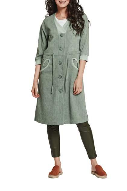 Тренч женский D`imma fashion studio Эркола зеленый 42 RU