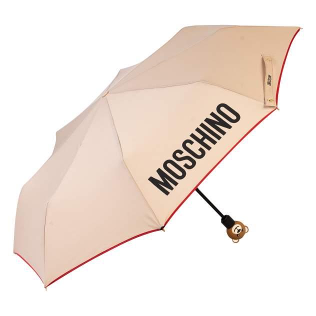 Зонт складной женский автоматический MOSCHINO 8080-OCD бежевый