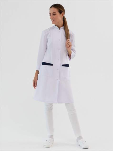 Халат медицинский женский Med Fashion Lab 03-730-04-023-335 белый 48-164