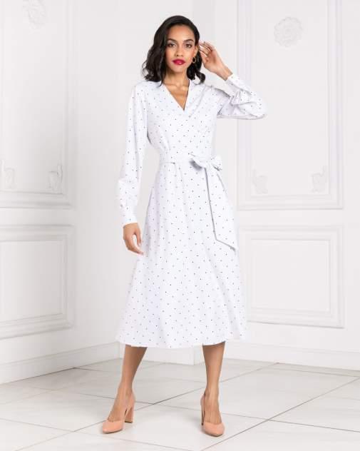 Женское платье BARMARISKA с запахом в горох, белый