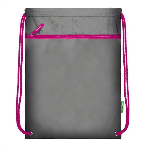 Мешок для обуви SchoolФормат, 38х46 см, серый/розовый
