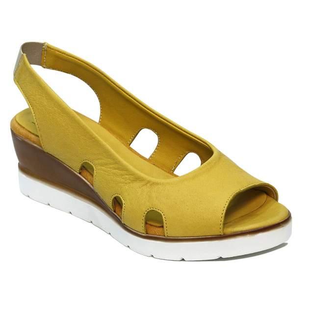 Босоножки женские Airbox 137673 желтые 38 RU