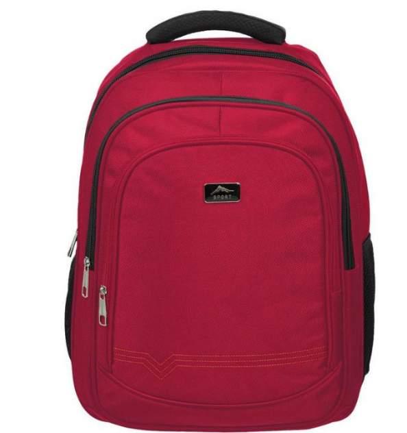 Рюкзак детский Комус для старшеклассников, бордовый, 457х330х140 мм