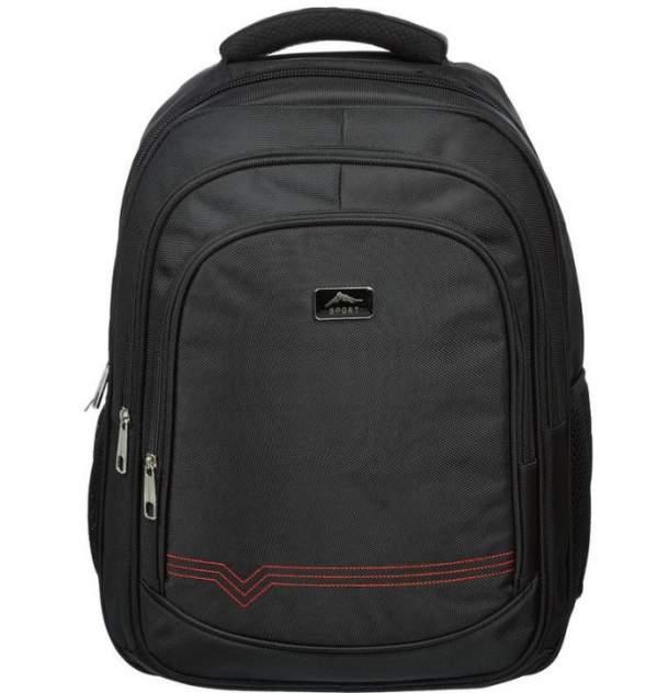 Рюкзак детский Комус для старшеклассников, черный, 457х330х140 мм