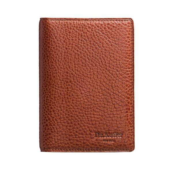 Обложка для паспорта из кожи светло-коричневого цвета Dr.Koffer X510130-02-05
