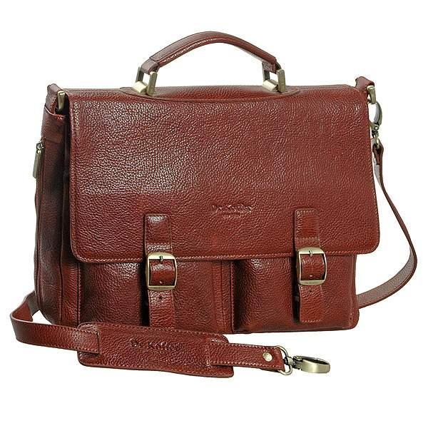 Портфель мужской Dr.Koffer P402148-02 коричневый