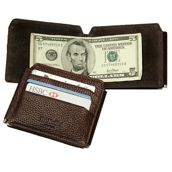 Зажим для денег мужской Dr.Koffer X510238-02 коричневый