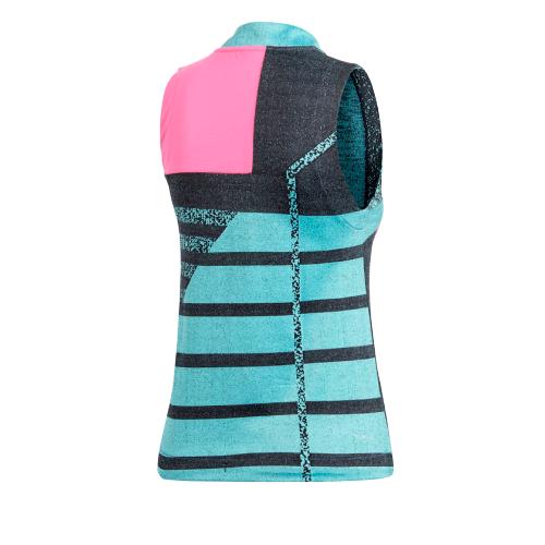 Майка Adidas CY8808, зеленый/черный/розовый, S INT