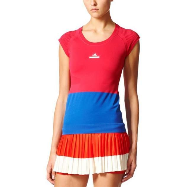 Футболка Adidas BQ3465, красный, синий