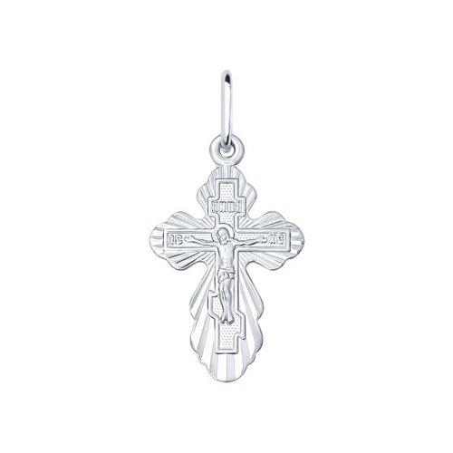 Серебряный нательный крестик SOKOLOV 94120128