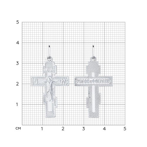 Серебряный крестик SOKOLOV 94120031