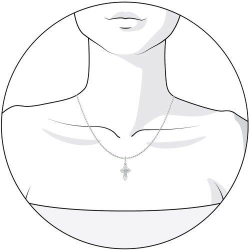 Широкий крест SOKOLOV из серебра 94120015