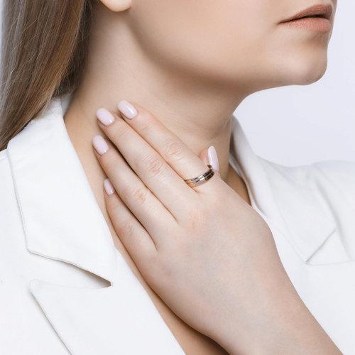 Обручальное кольцо женское SOKOLOV из серебра 94110028 р.19.5