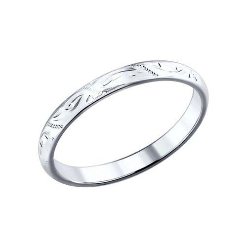 Обручальное кольцо женское SOKOLOV из серебра с гравировкой 94110015 р.16