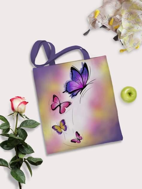 Пляжная сумка женская sfer.tex 1745236 фиолетовая
