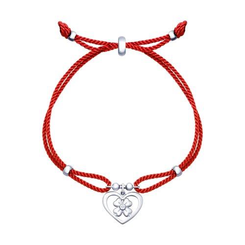 Браслет женский с серебром «Сердце» SOKOLOV 94050413 р.17
