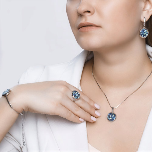 Браслет женский SOKOLOV из серебра с кристаллами Swarovski и фианитами 94050409 р.18