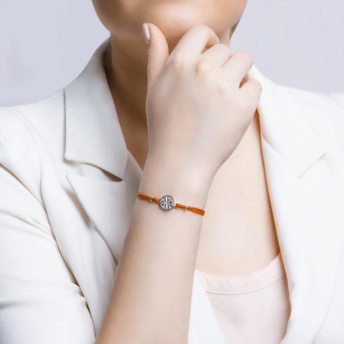 Браслет женский с серебром «Клевер» SOKOLOV 94050368 р.18