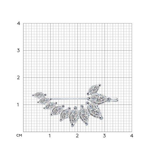 Брошь SOKOLOV из серебра с фианитами 94040091