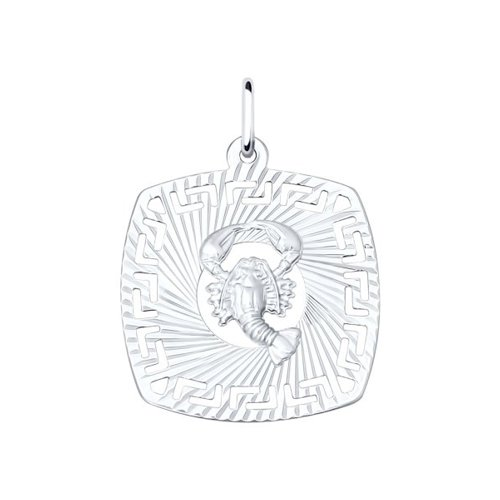 Подвеска «Знак зодиака Рак» SOKOLOV из серебра 94030861